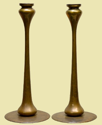 272925b8f7e 5) A Robert Jarvie pair of Kappa candlesticks. A massive stick displaying  symmetry at the top and bottom. Bobeche are included. Please scroll down to  order.
